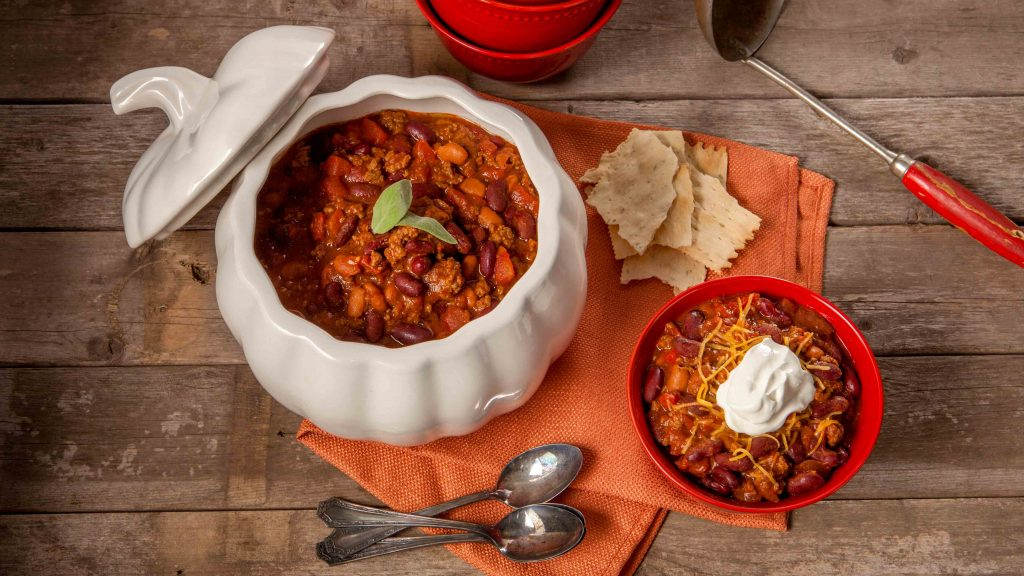 Pumpkin chili recipe that makes a big batch and is perfect for fall.