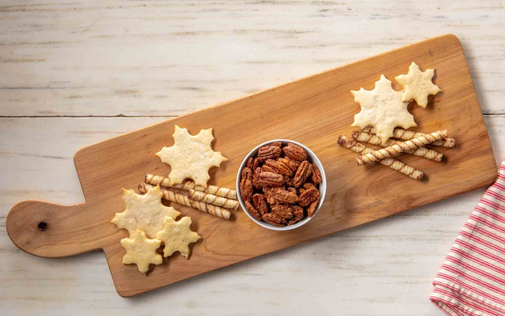 Cookies and Nuts on a Dessert Charcuterie board